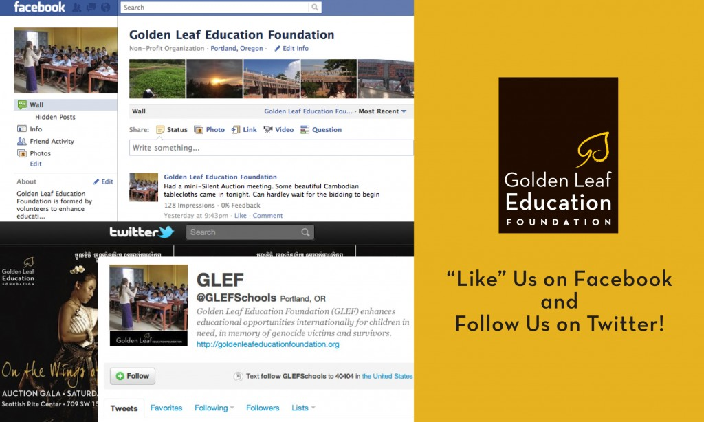 GLEF Facebook and Twitter