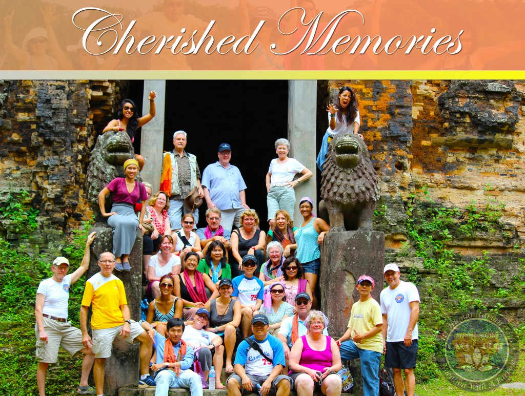 The 2012 Humanitarian Tour gathered in front of a Cambodian monument. The trip proved memorable for all who participated.