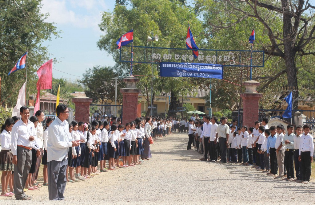 Soeur School Community Greets GLEF at its Groundbreaking Ceremony.