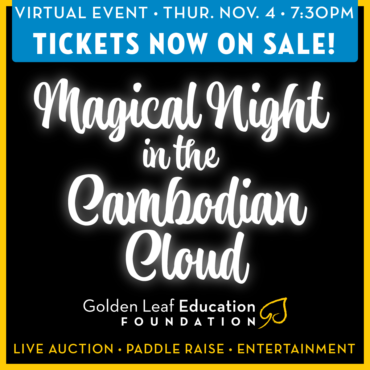Magical Night in the Cambodian Cloud Benefit 11.4.2021